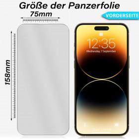 Huawei P9 Voll Display Schutz Panzerglas Handy Folie Echt Glas 9H Panzerfolie Color Glas