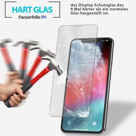 5D Panzerglas für iPhone X Displayschutz Curve Glas Schutzglas Folie - Weiss