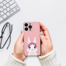 Handy Hülle für SAMSUNG Silikon Case Tasche Cover Design Motiv Holz- Blumen Deko-Hetz mit Schleifchen