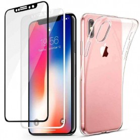 3D Panzerglas Full Screen + Schutz Hülle für iPhone X Case Folie 360 Schutz Cover