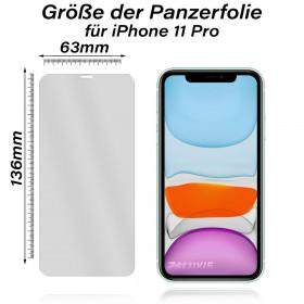 iPhone 7 Voll Panzerglas Displayschutz Folie Echtglas 9H Panzerfolie - Weiß