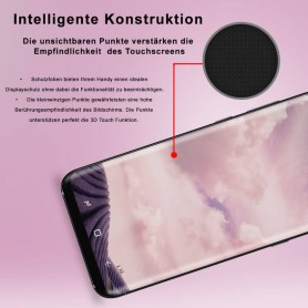 Silicone Case for Galaxy S9 Phone Cover Etui Motiv Mandala Color Flower